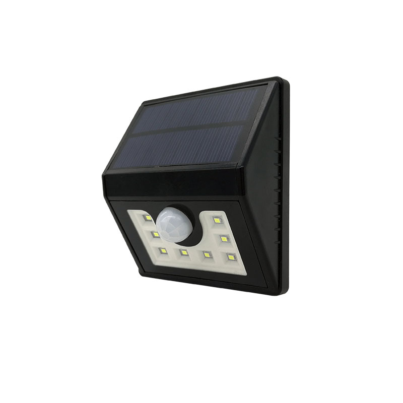 8LED Solar motion sensor light LED solar pir wall lamp