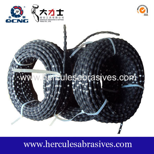 11.5 mm Rubber Diamond wire saw for granite quarrying