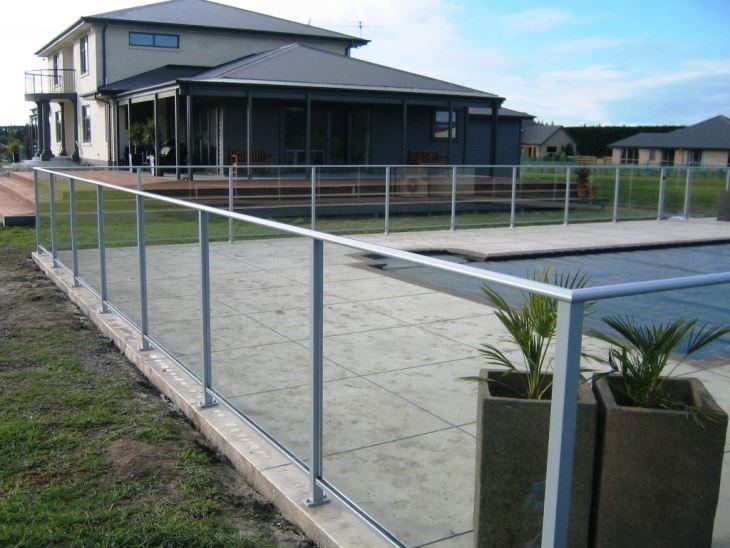 2017 Hot Style Safety Glass Railing Balustrade Handrail