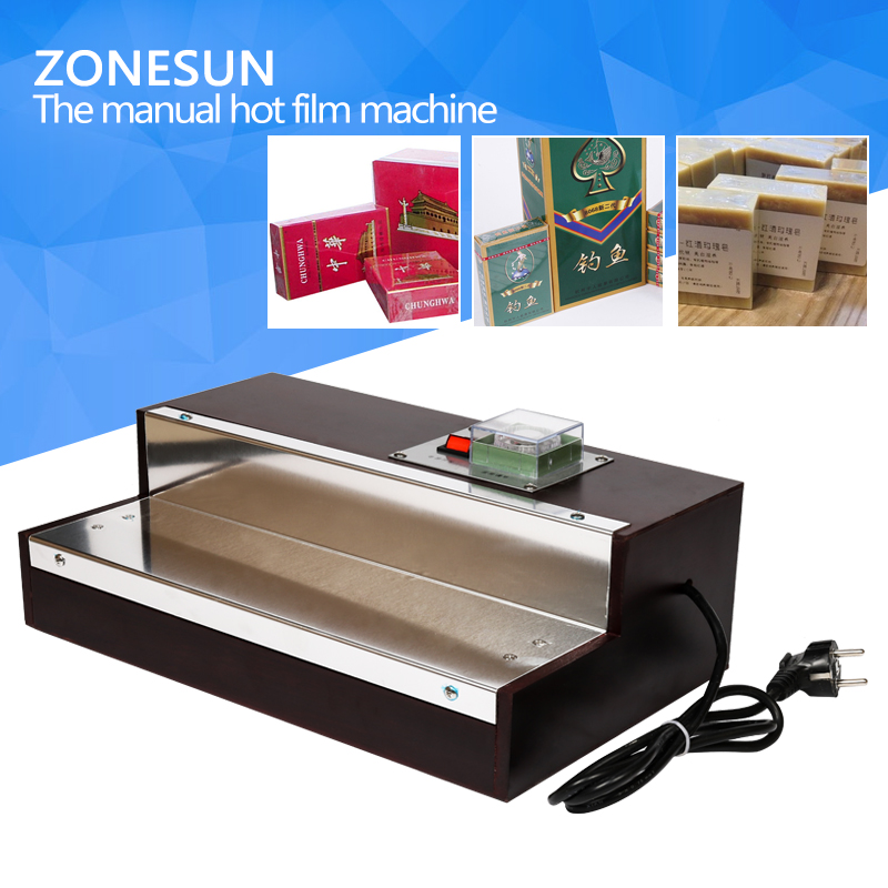 ZONESUN BOPP film heat shrink wrapping machine for perfume box Cigarettes,cosmetics film machine