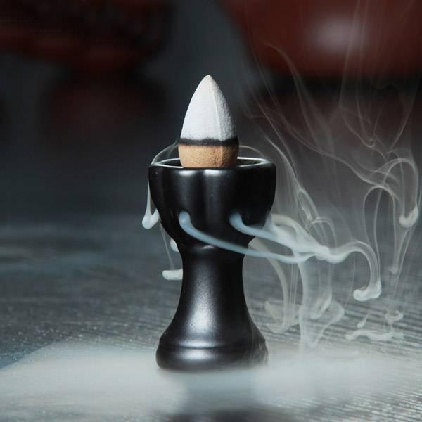 Ceramic Mini Incense Burner incense Cone Tower Censer Smoke Backflow Stream back down Tea Pet Incens