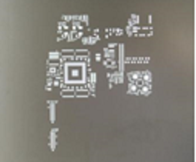 Chemical-etch stencil--Frameless