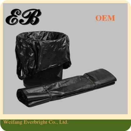 Square Bottom Industry Use Plastic Bag HDPE Rubbish Bin Liner Plastic Garbage Bag