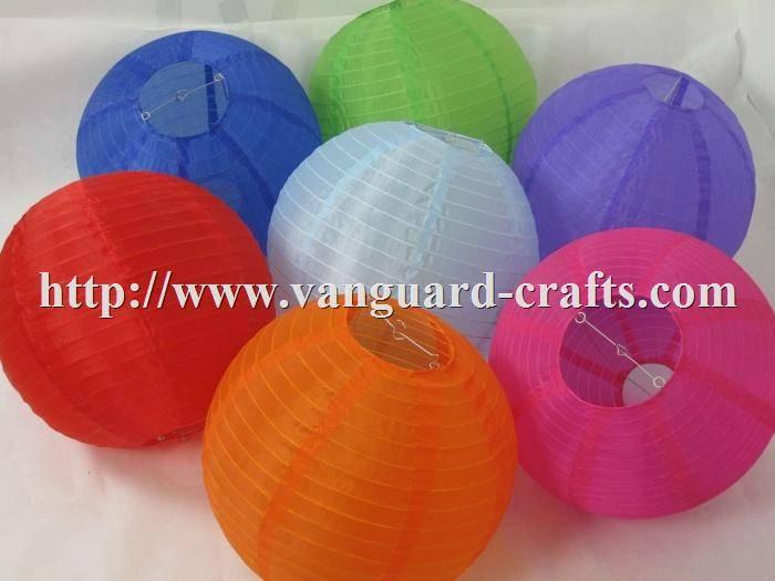 Round Nylon Lantern Holiday Lanterns Round Lanterns