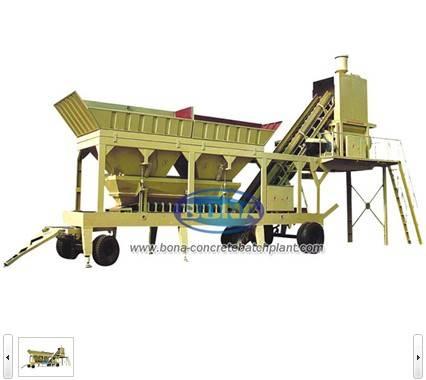 good quality mobile concrete batching plant machine