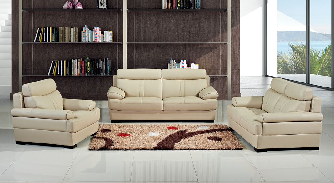 2017 China Modern Living Room Leather Sofa