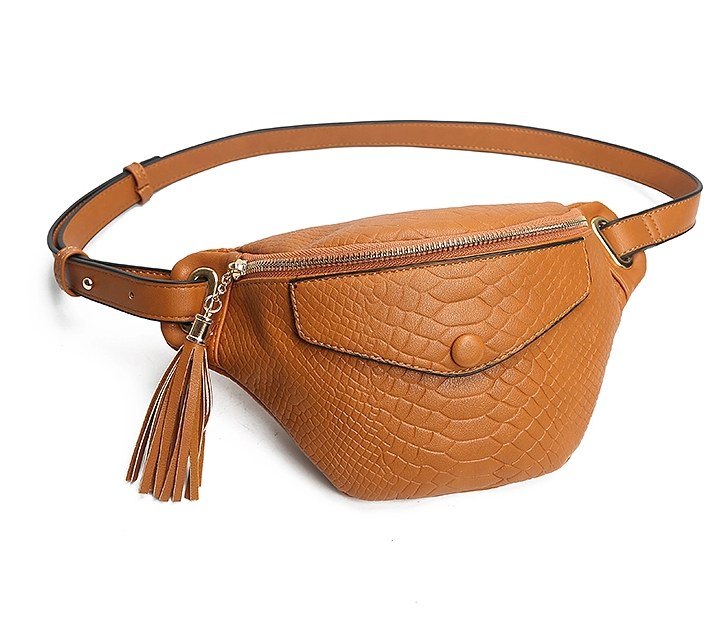 Custom oem PU leather ladies fashion pouch fanny pack waist bag for women