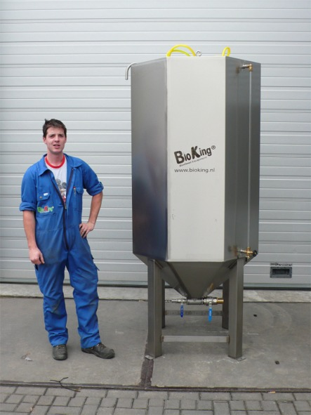 Biodiesel Stainless Steel Wash/Settle tank (Model: BK-S&W-1400L)