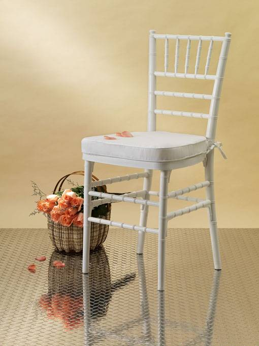 White Resin Chiavari Chair/Tiffany Chair