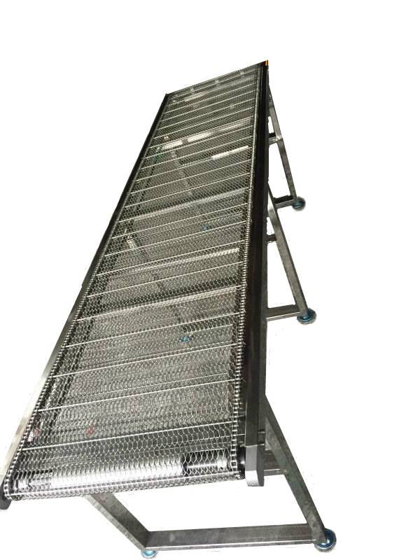 stainless steel mesh chain conveyor
