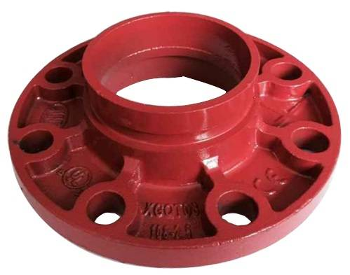 China FM UL cUL approved ductile iron grooved coupling and pipe fitting adapter