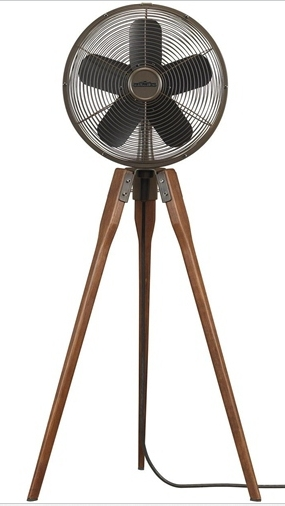Outdoor Standing Fan, Portable Stand Fan, Oscillating Portable Metal Pedestal Floor Fan, Air Circula