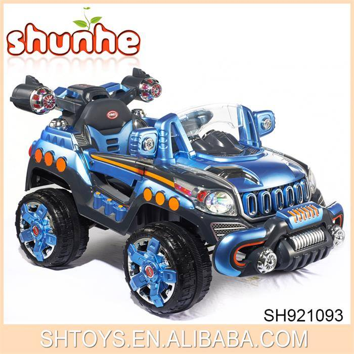 Simulation chilren ride on jeep Mulifunction R/C 2 motors ride on car wtih printing