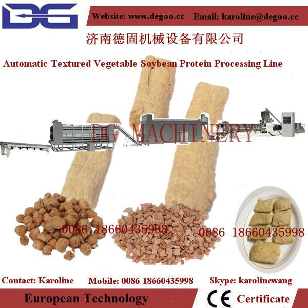 automatic textured vegetable soy protein machinery production line