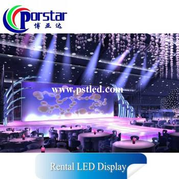 china video MINI indoor full color rental led display for fever club, taxi top led display