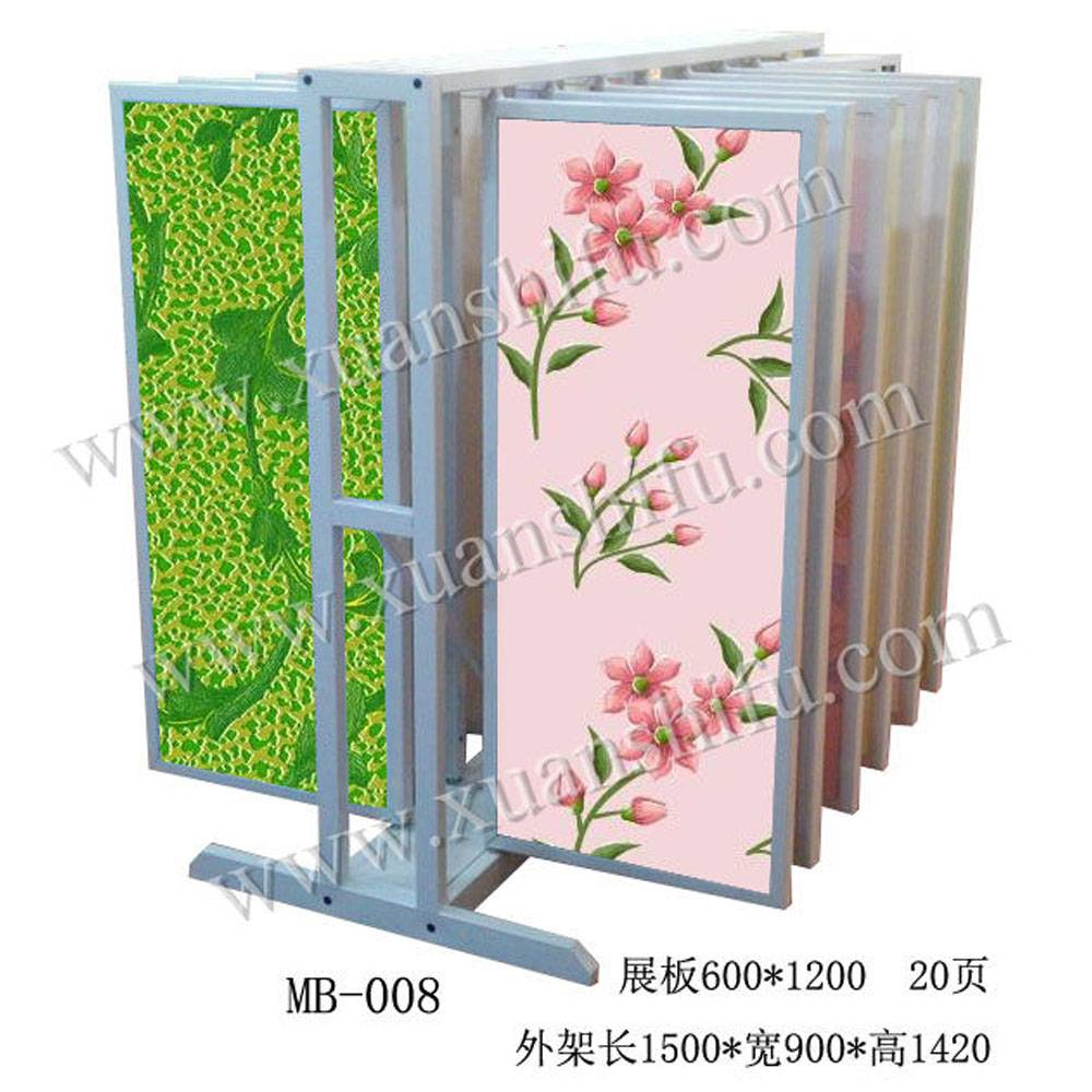 fashion metal wall paint display / wall paint showroom / wallpaper frame