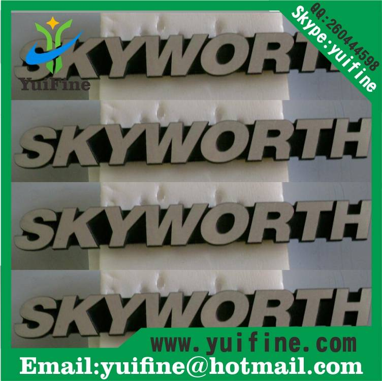 aluminum letter label name plate costomized logo metal label metal tag sel adhesive nameplate