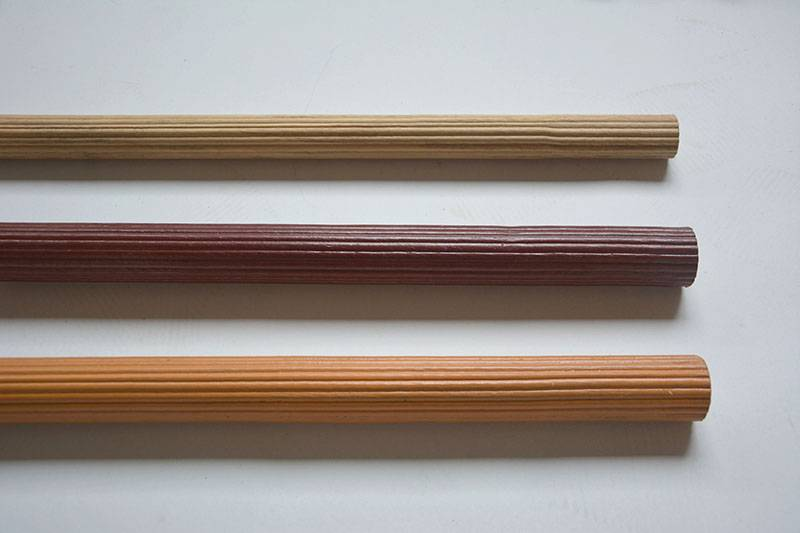 Wooden Fluted Curtain Rod