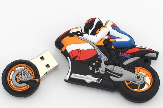 PVC USB flash drives, motorcycle style