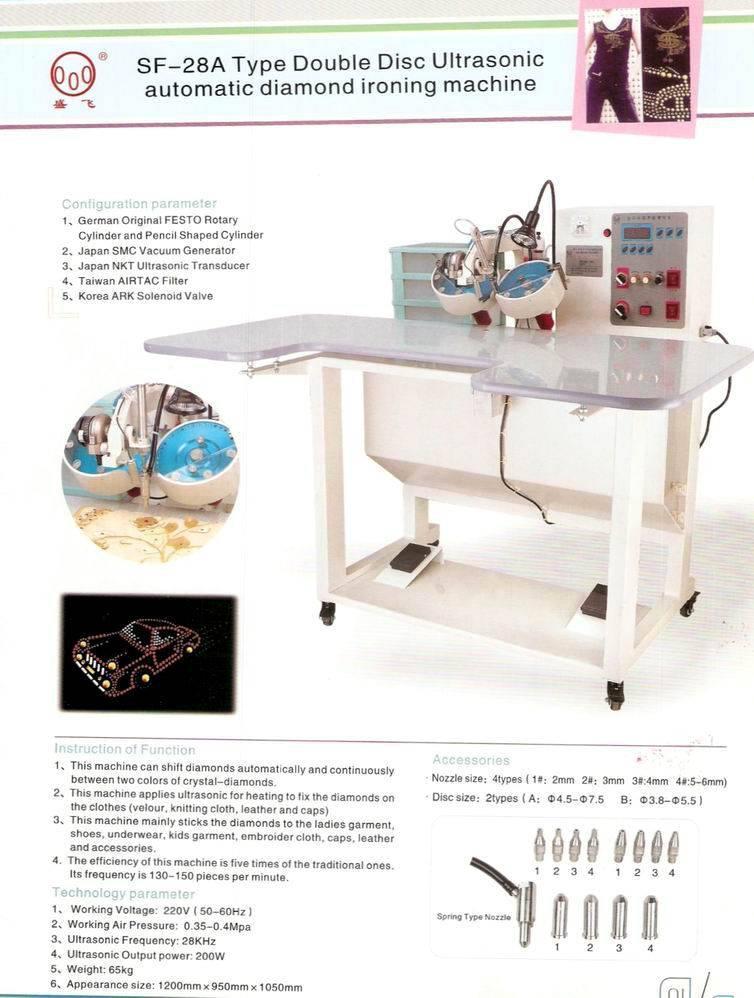 double disc ultrasonic auto diamond ironing machine sf 28a
