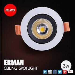 Edison lighting source with high lumen and efficacy edison COB led spotlight