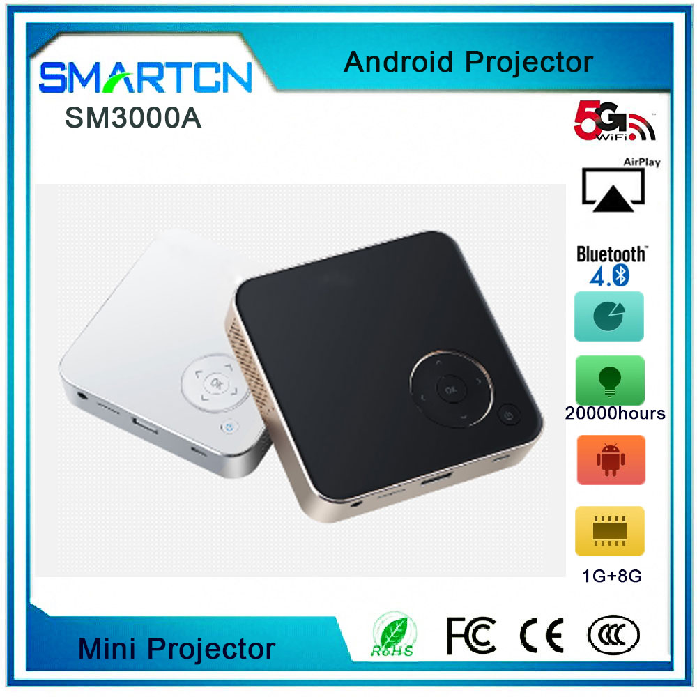 SM3000A mini pico projector portable projector DLP projector with wifi bluetooth