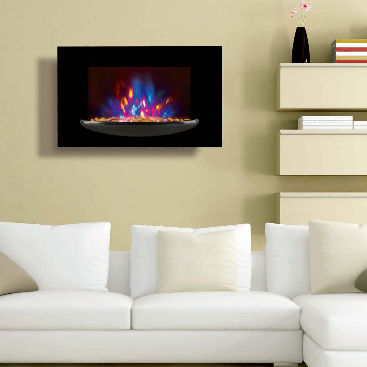wall mounted fireplace wall hang real flame effect,colorful style,LED lights,Red,Orange,Blue,EF520P/