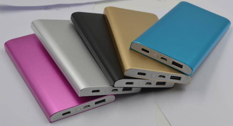 portable type c power bank for mobile phone charger