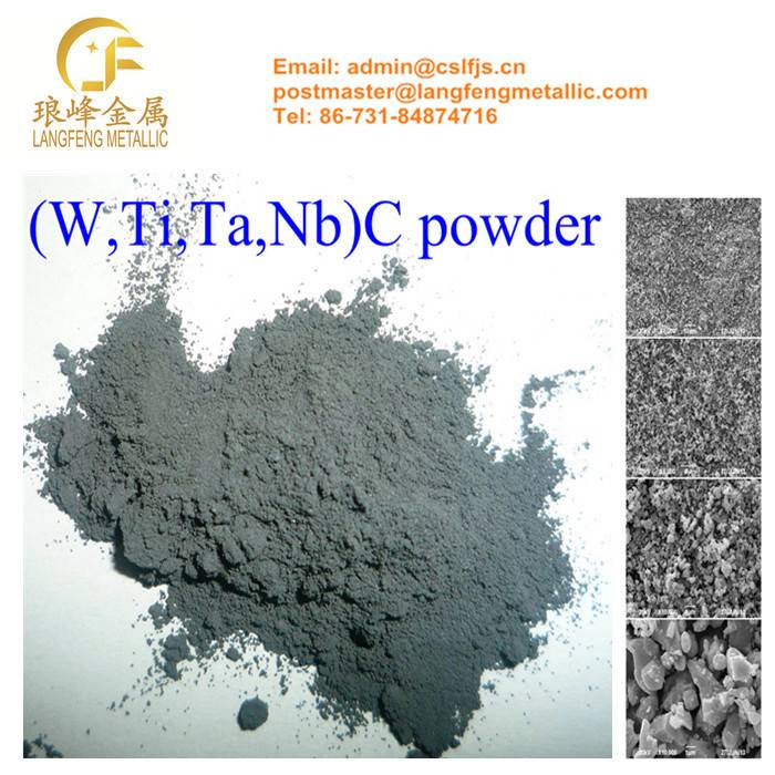 Compound Carbide (W, Ti, Ta, Nb) C Powder for Carbide&Cermet Additives