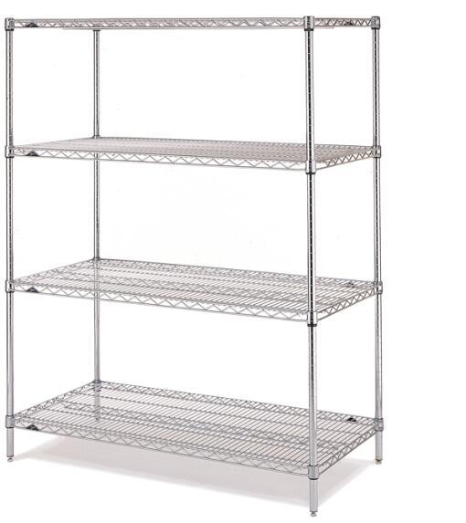 Supermarket Powder Coating Wire Shelving Single Side Basket Shelf