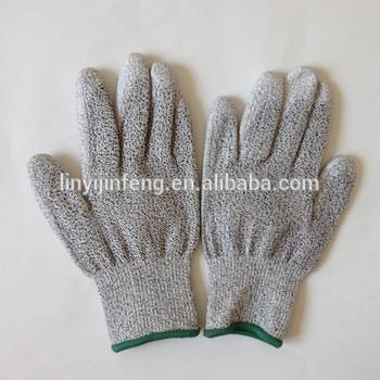 cut 5 gloves with pu coating palm strong anti cut gloves for lumbering
