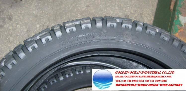 Golden Boy Mud Grip Motorcycle Tire 300-17 300-18 for Kenya Market