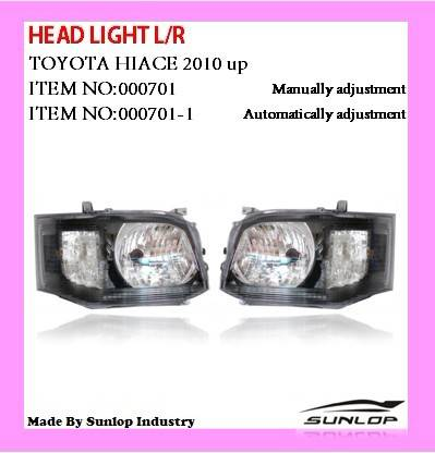 Head Light L/R for New Toyota Hiace body parts 2010-2013
