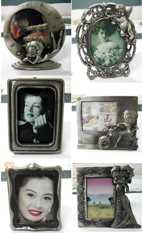 antique copper 3D metal photo frame