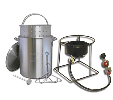 Portable outdoor propane tureky fryer