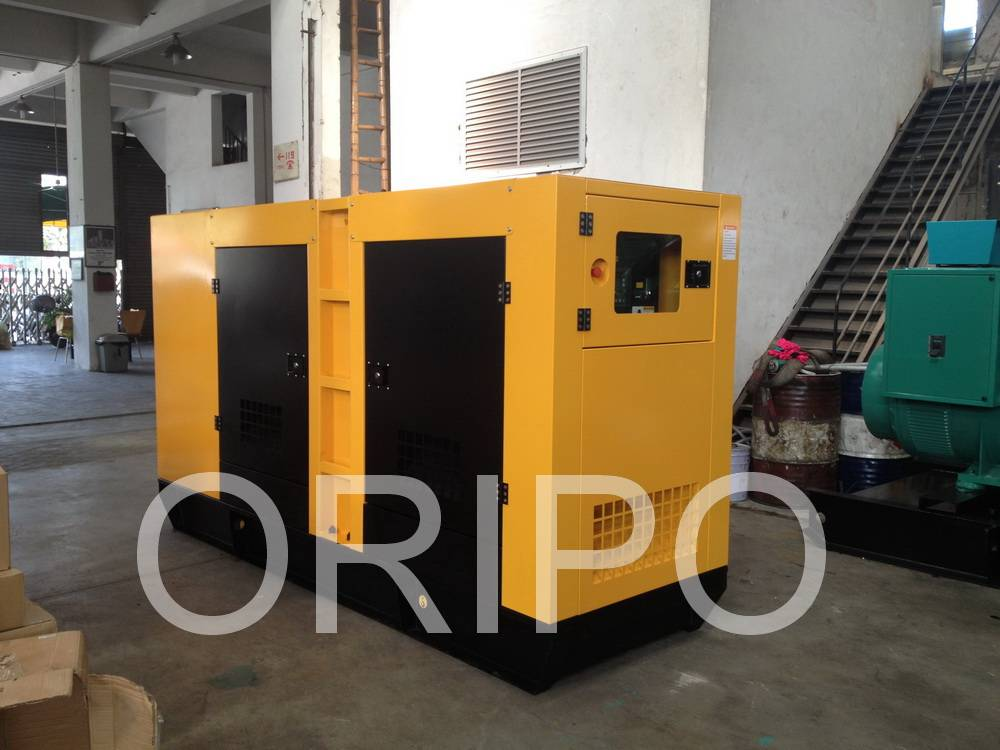 100kw Cummins soundproof generator set with 100% copper alternator