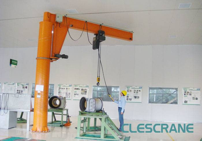 CJZ Series Pillar Mounted Workshop 2 Ton Jib Crane