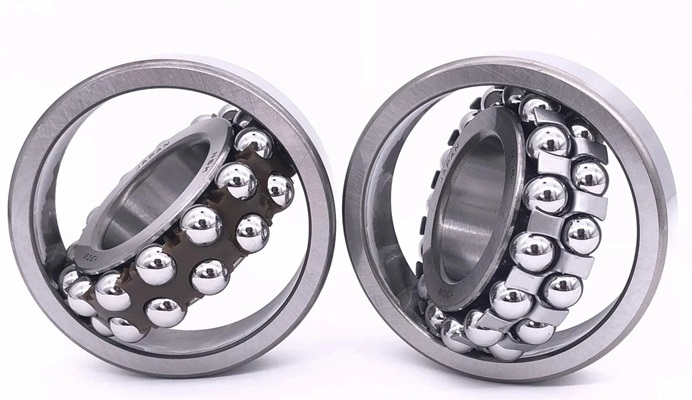 Cylindrical Double Row 90X190X64mm 2318 Self Aligning Bearing