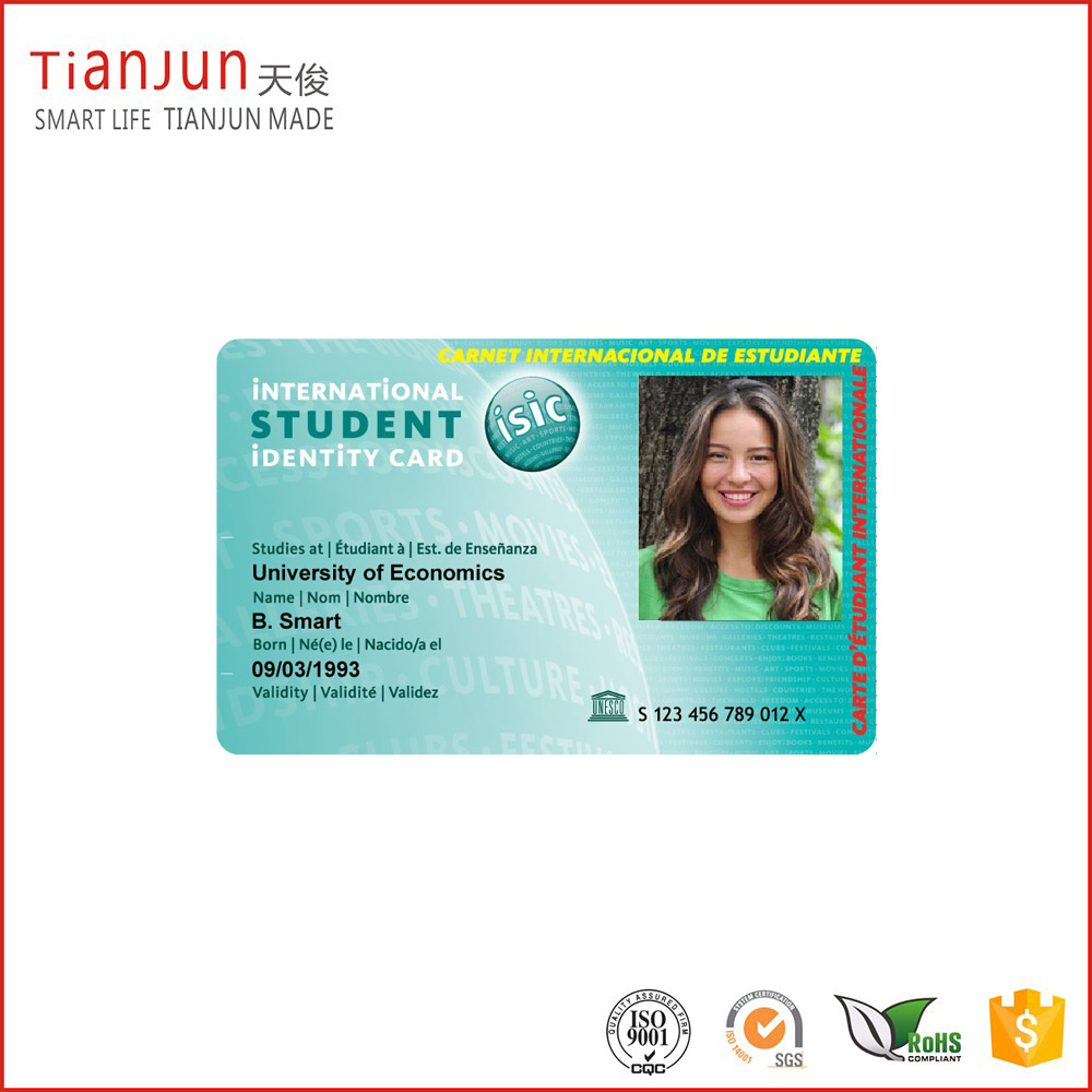 Custom Design PVC Facebook ID Card