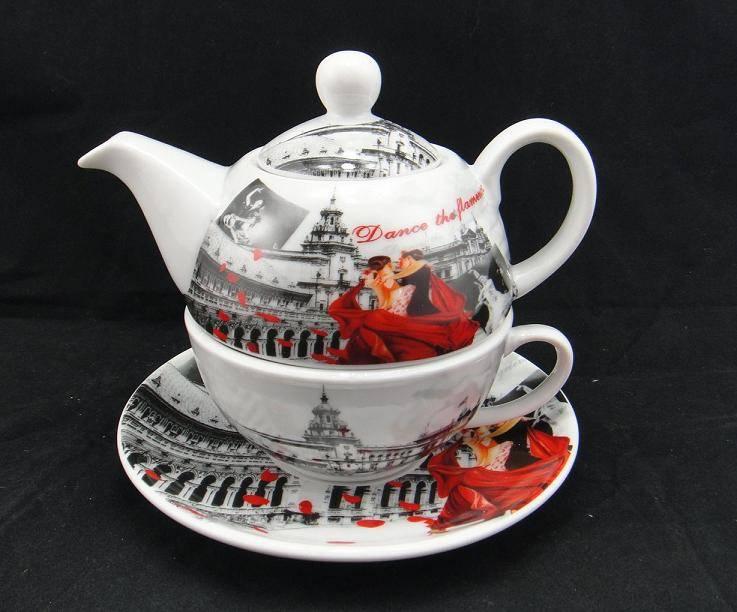 Customized Design tea cup and pot set