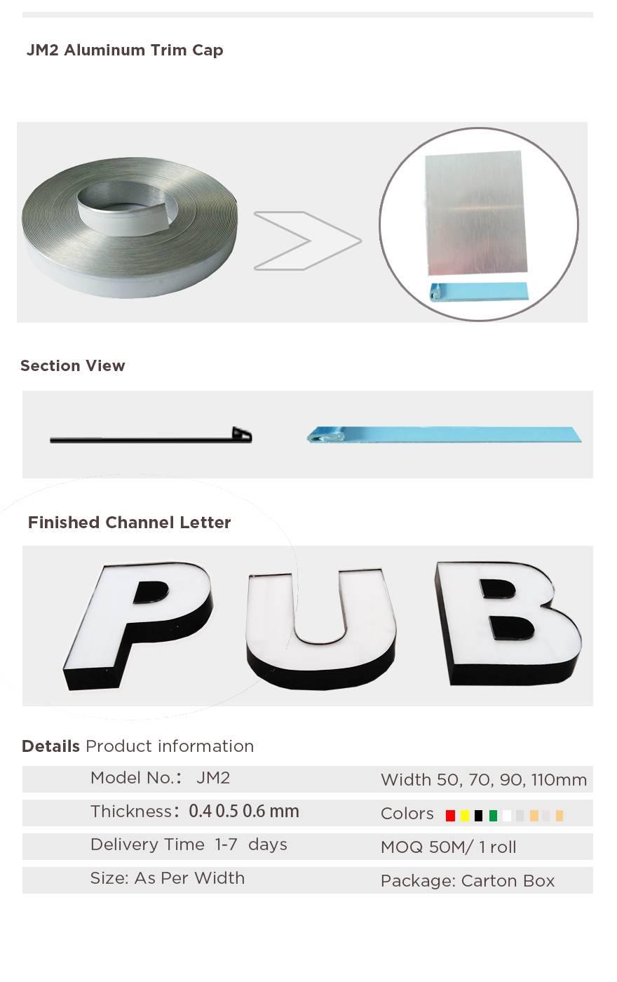 channel letter aluminum profile Aluminum profile for channel letter making J-2