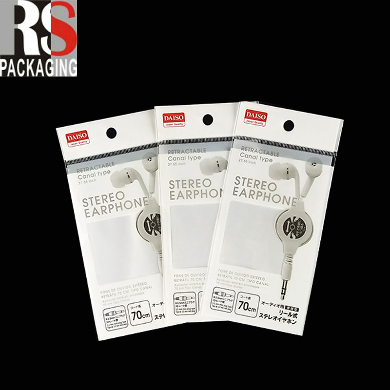 custom designed panties packaging resealable opp bags with header