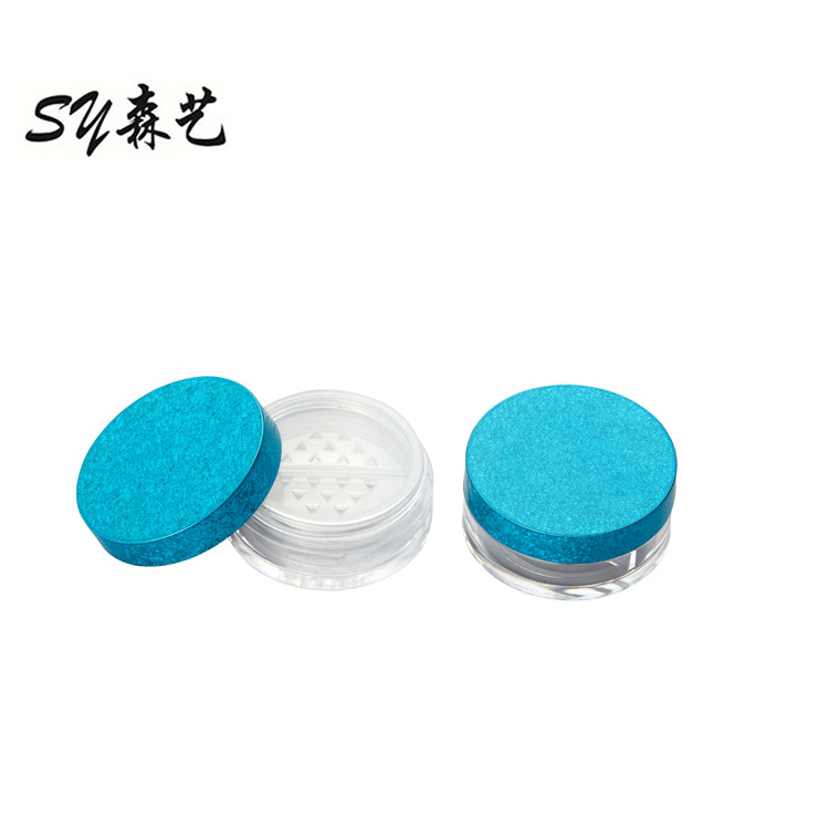 Custom Printed Logo Empty Cosmetic Compacts Loose Powder Packaging Case Makeup Jars Containers