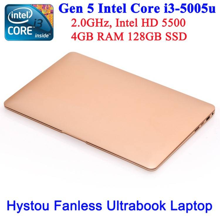 fanless laptop computer Intel core i3 5005U notebook 13.3 inch full 1080P LED screen Support 64 bit
