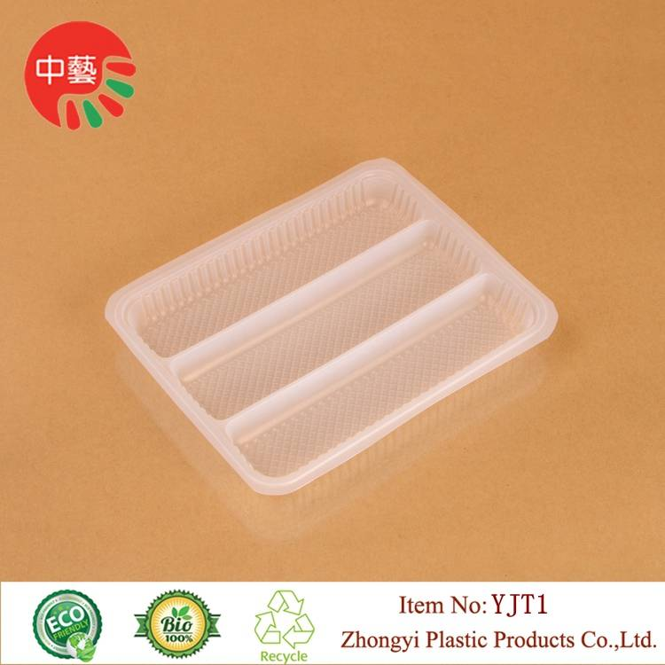 blister PP plastic packaging food tray with dividers