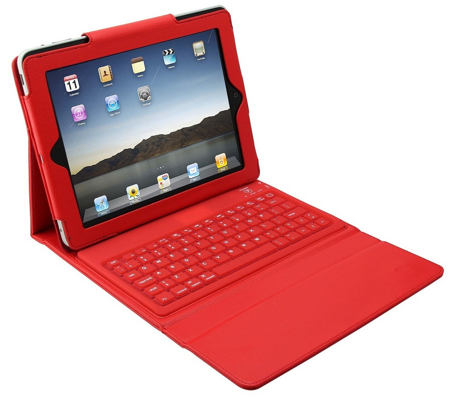iPad Leather Case with Bluetooth Keyboard