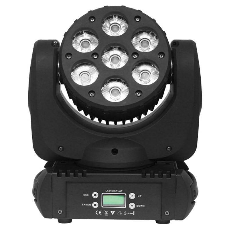 7*12W RGBW LED Moving Head Wash Light