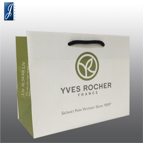 Customized small white kraft paper bag for YVES