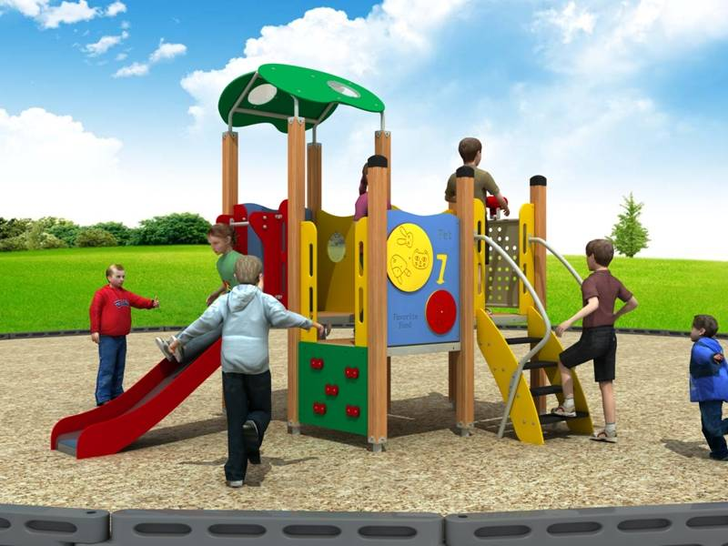 Modern Playground Equipment Outdoor Slide Pe Series WD-BC201