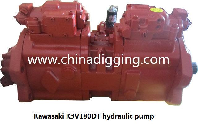 Kawasaki K3V180DT excavator hydraulic pump main pump assy
